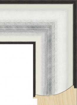 Настенное зеркало в деревянной раме Вечерний лед