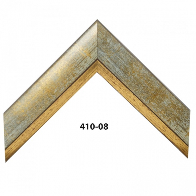 Деревянный цветной багет с имитацией металлика 410-08