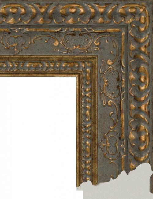 Багет пластиковый золото и серебро шириной 10,1 см арт. ПЛЗС004