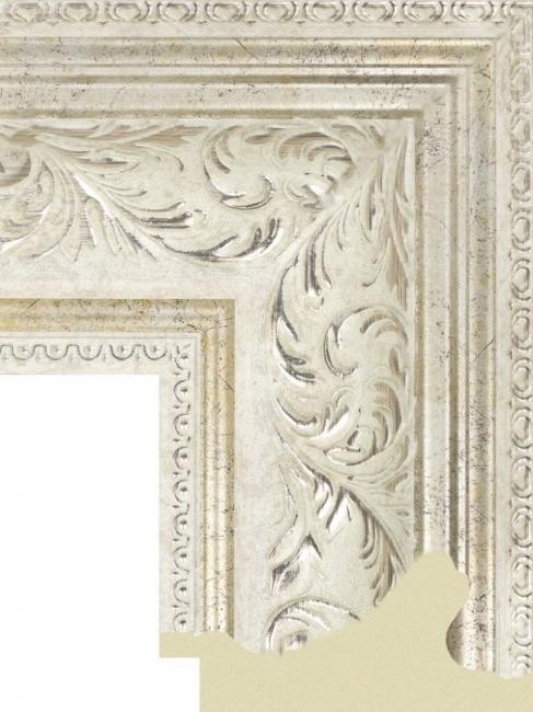 Багет пластиковый золото и серебро шириной 10,1 см арт. ПЛЗС005