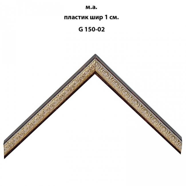 Багет пластиковый золото и серебро шириной 1 см арт. G150-02