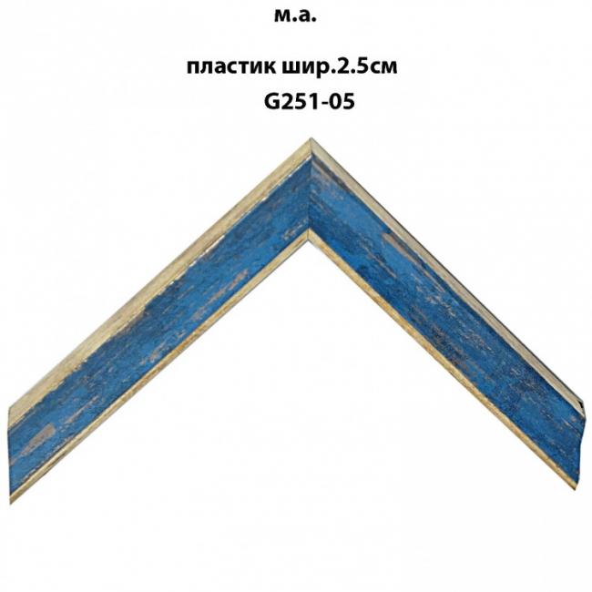 Багет пластиковый цветной шириной 2.5 см арт. G251-05