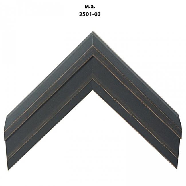 Деревянный багет черных тонов шириной 2501-03