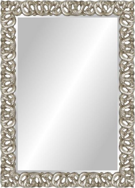 Настенное зеркало в деревянной раме Ажурный металлик