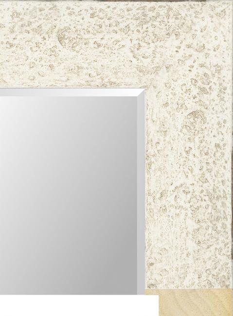 Настенное зеркало в деревянной раме Бежевое