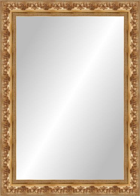 Настенное зеркало в деревянной раме Элеганс Золотой
