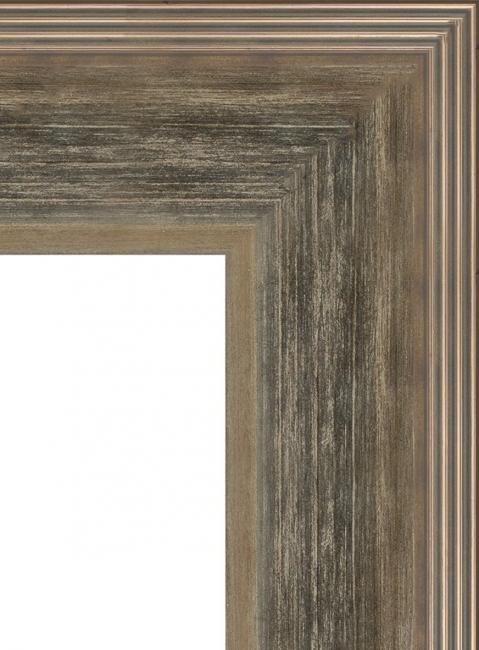 Настенное зеркало в деревянной раме Состаренное