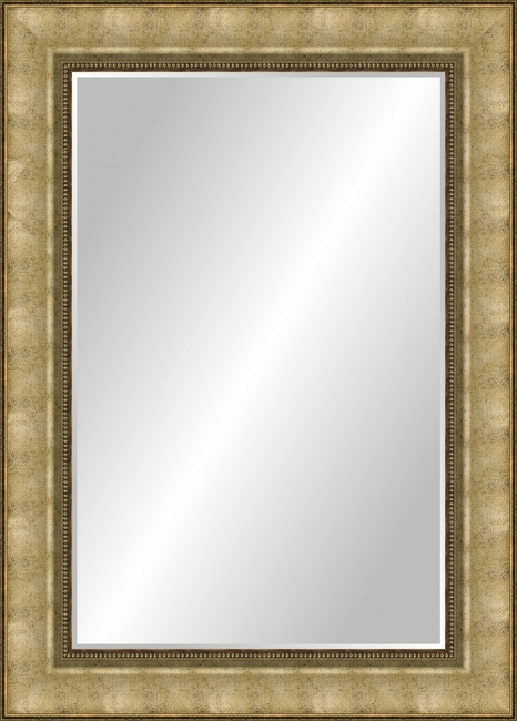Зеркало в ванную комнату в пластиковой раме Лилия