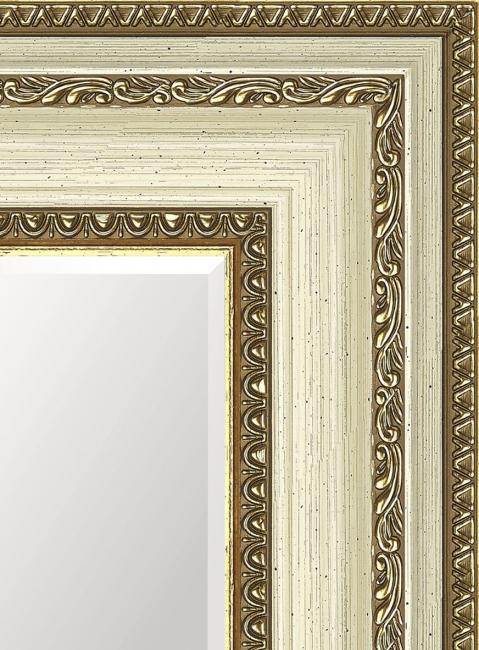 Зеркало в ванную комнату в пластиковой раме Сарра