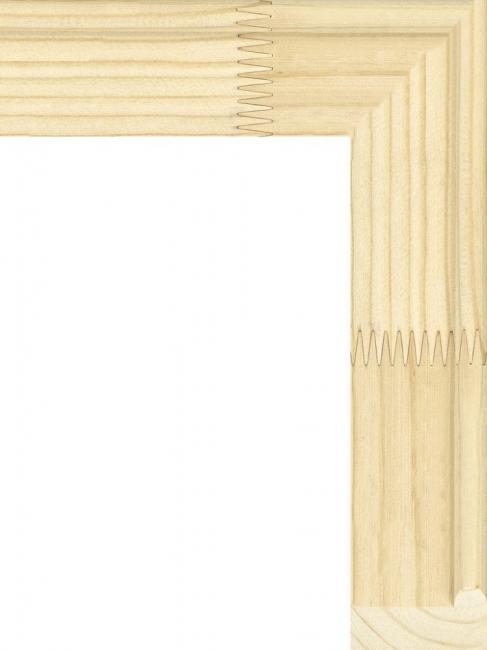 Рейка для подрамника с округлым выступом, клееная, объединенная