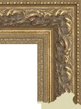 Багет пластиковый золото и серебро шириной 10.5 см арт. ПЛЗС030
