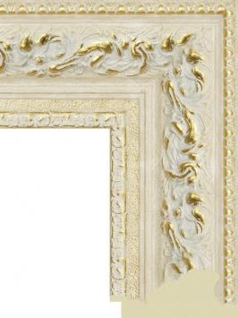 Багет пластиковый золото и серебро шириной 10.5 см арт. ПЛЗС032