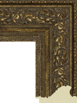 Багет пластиковый золото и серебро шириной 10.5 см арт. ПЛЗС029