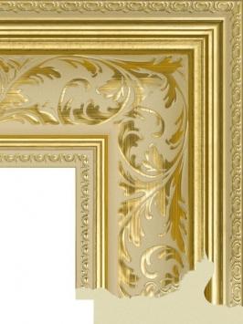 Багет пластиковый золото и серебро шириной 9.9 см арт. ПЛЗС008