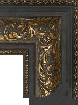 Багет пластиковый золото и серебро шириной 9.9 см арт. ПЛЗС006