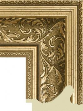Багет пластиковый золото и серебро шириной 9.9 см арт. ПЛЗС007