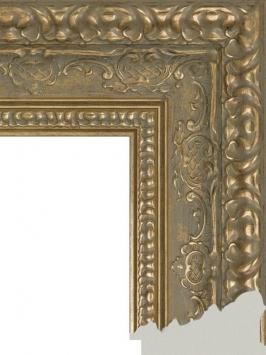 Багет пластиковый золото и серебро шириной 10,1 см арт. ПЛЗС002
