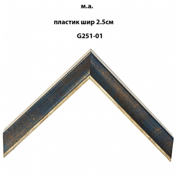Багет пластиковый цветной шириной 2.5 см арт. G251-01