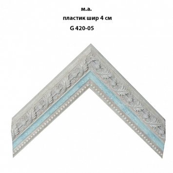 Багет пластиковый светлых тонов шириной 4 см арт. G420-05