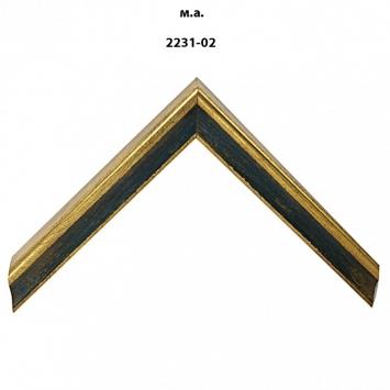 Багет золото/серебро арт. 2231-02