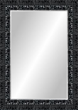 Настенное зеркало в деревянной раме Черный блеск