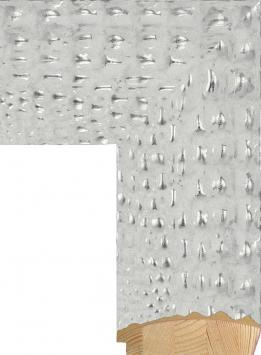 Настенное зеркало в деревянной раме Крокодилья кожа бежевая