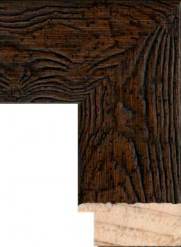 Настенное зеркало в деревянной раме Мореное дерево состаренное