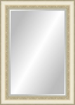 Настенное зеркало в деревянной раме Пастельное