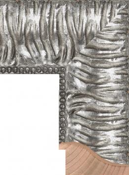 Настенное зеркало в деревянной раме Цинк