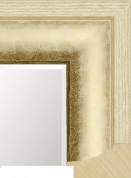 Настенное зеркало в деревянной раме Весна